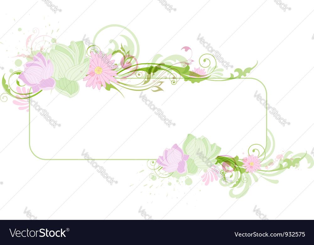 Lotus banner vector image