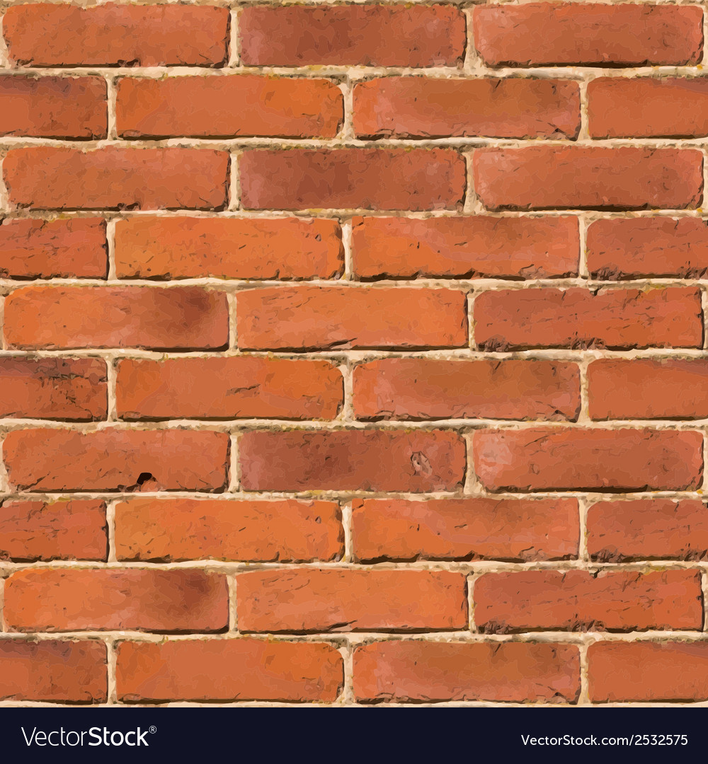 Red Brick Wall Seamless Texture Vector Image