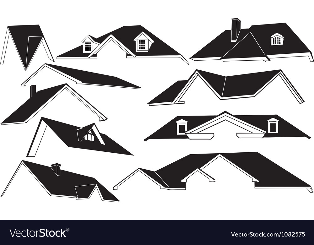 Roofs vector image