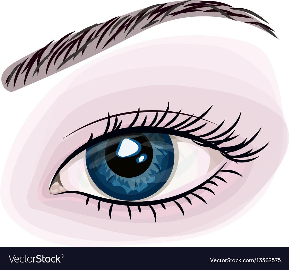 Woman beautiful blue eye vector image