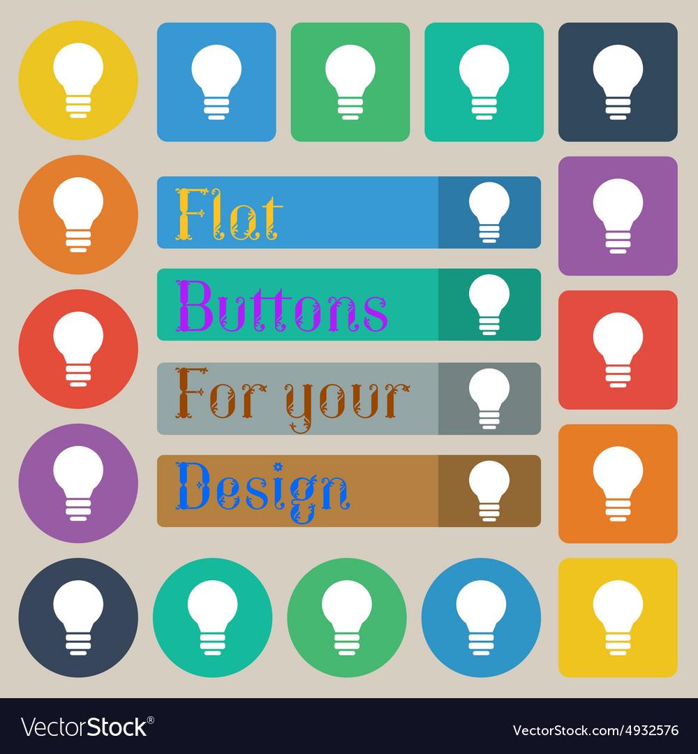 Light lamp Idea vector image