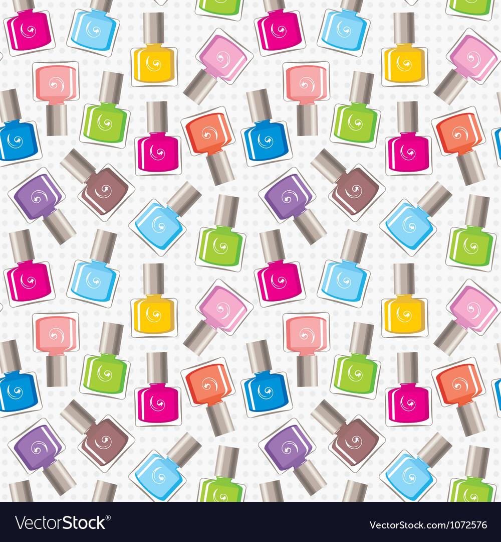 Seamless nail polish pattern vector image