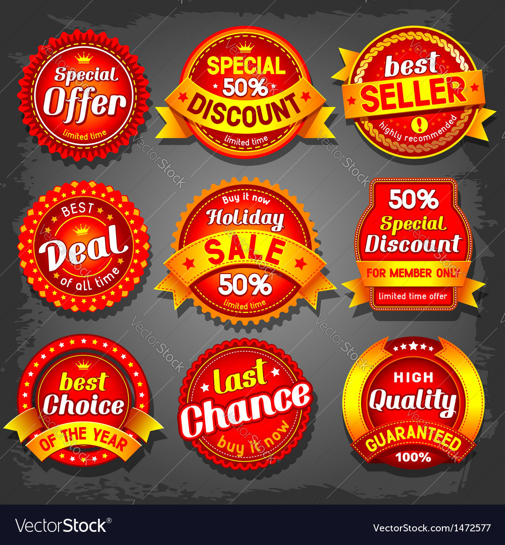 Offer label vector image