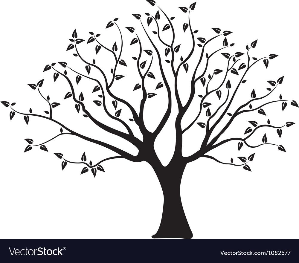 Wedding Tree Vector: Tree Royalty Free Vector Image