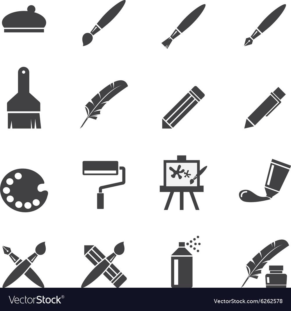 Art icon set vector image