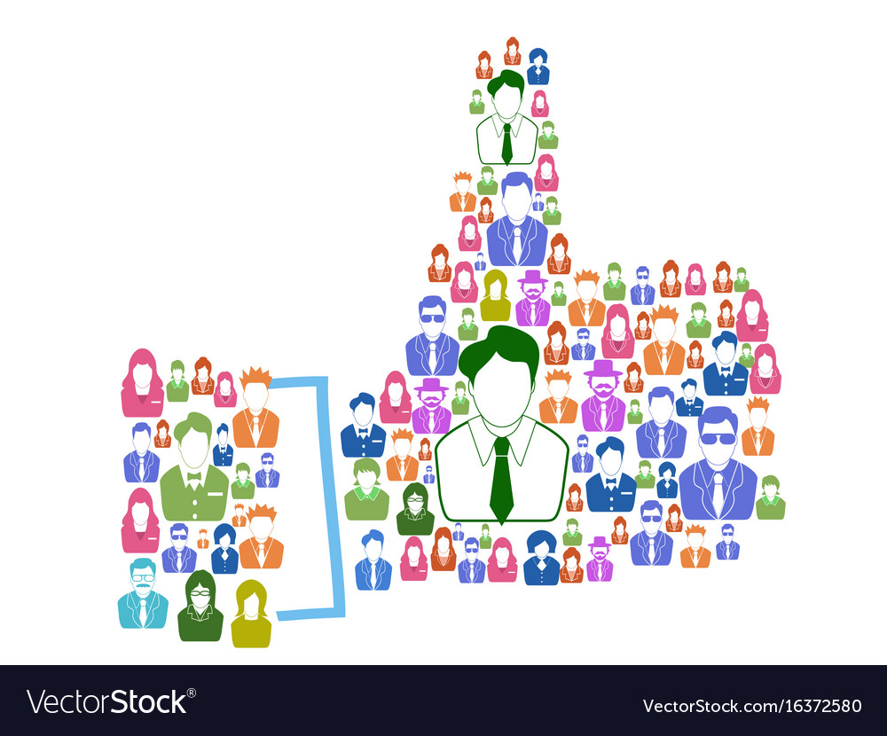 Business people thumps up vector image