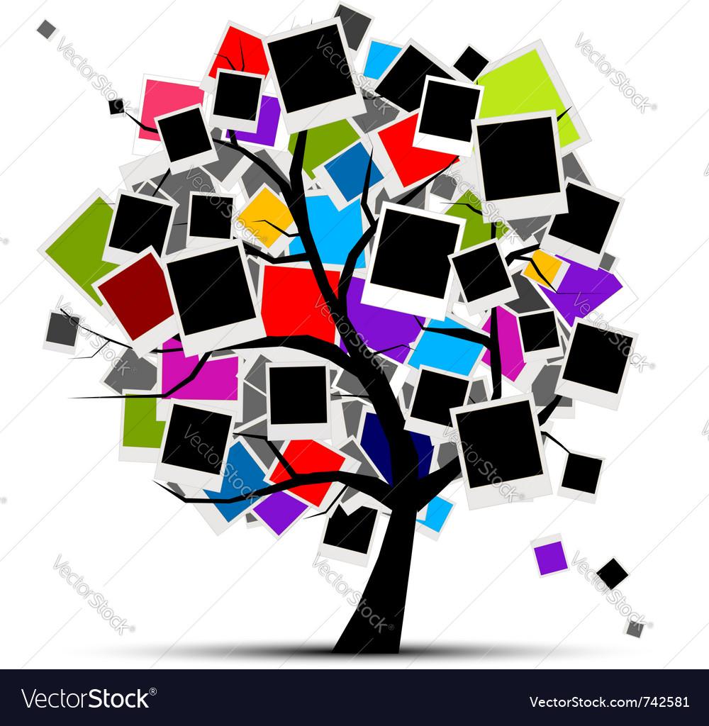 Memories tree vector image