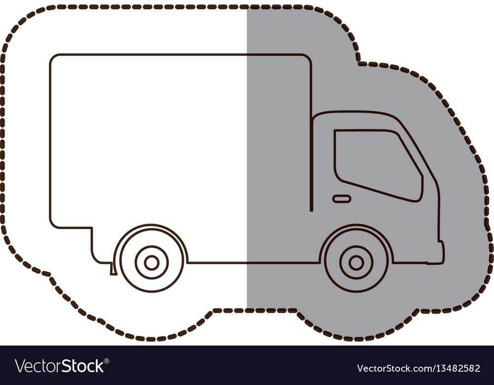 Figure delivery car icon vector image