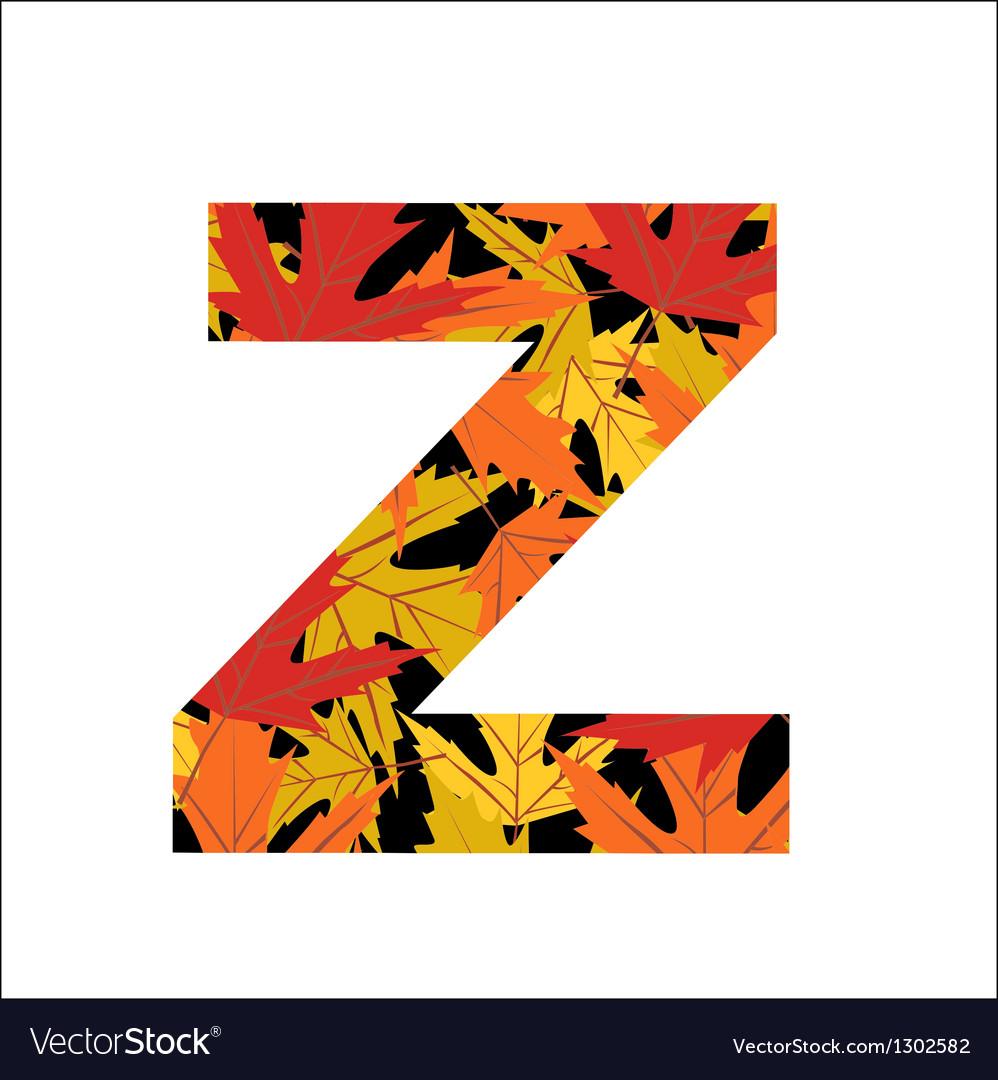 Z Letter vector image