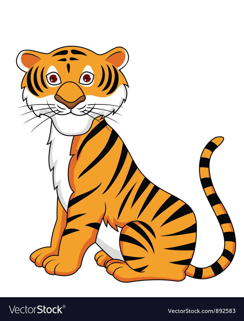 Tiger cartoon vector image