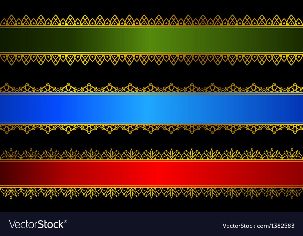 Decorative headers vector image