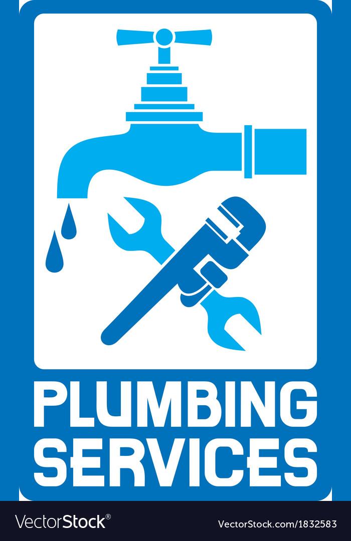 Repair plumbing symbol vector image