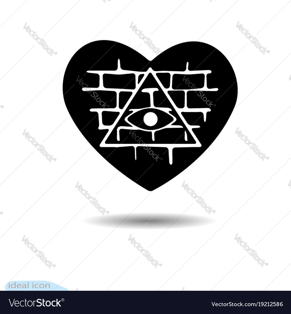 Heart icon all seeing eye a symbol of love vector image heart icon all seeing eye a symbol of love vector image biocorpaavc Images