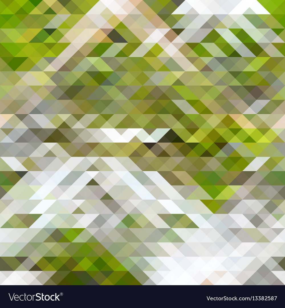 Green brown and white abstract geometry pattern vector image