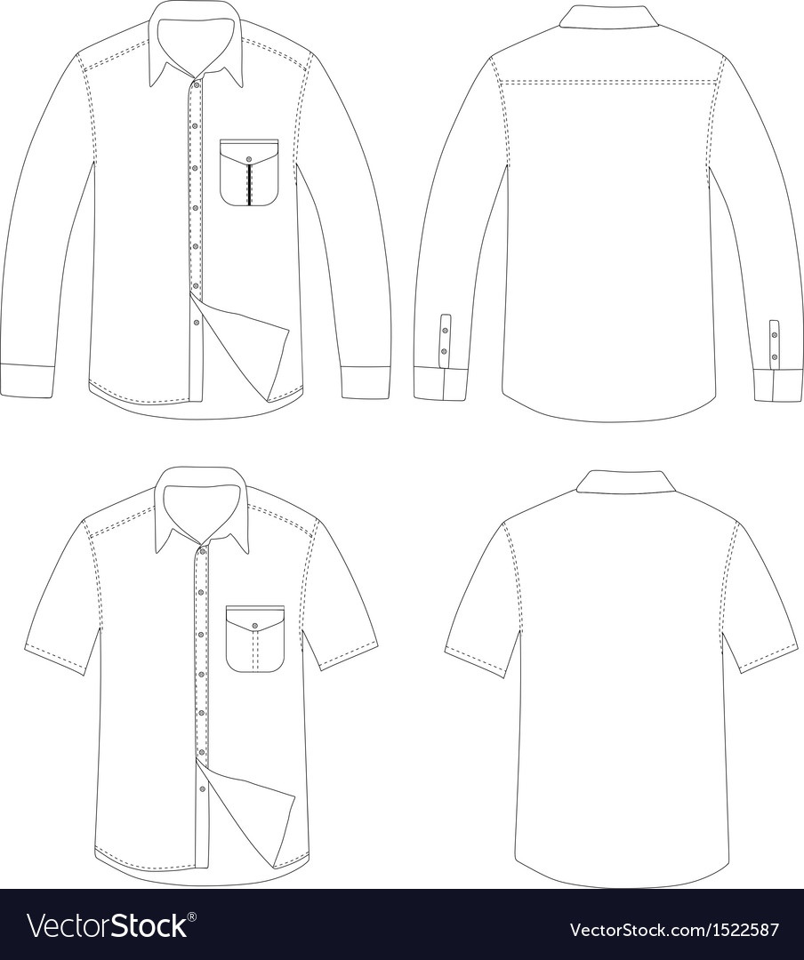Outline shirt vector image