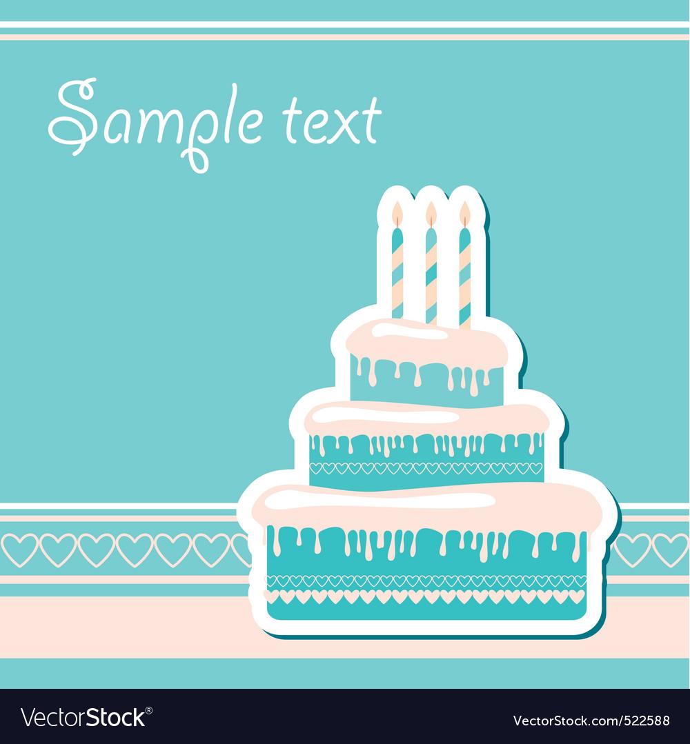 Congratulations happy birthday Vector Image