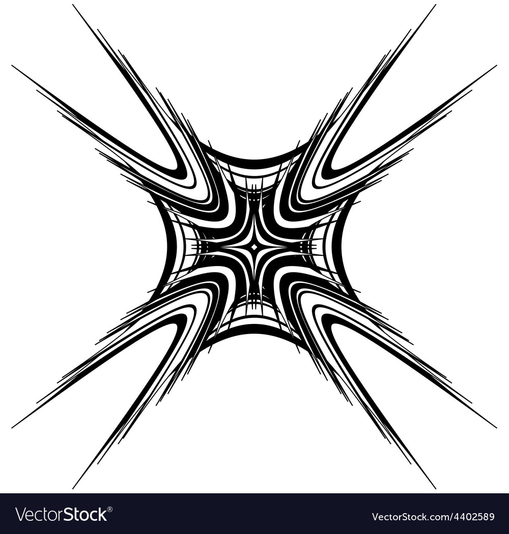Abstract black cross vector image
