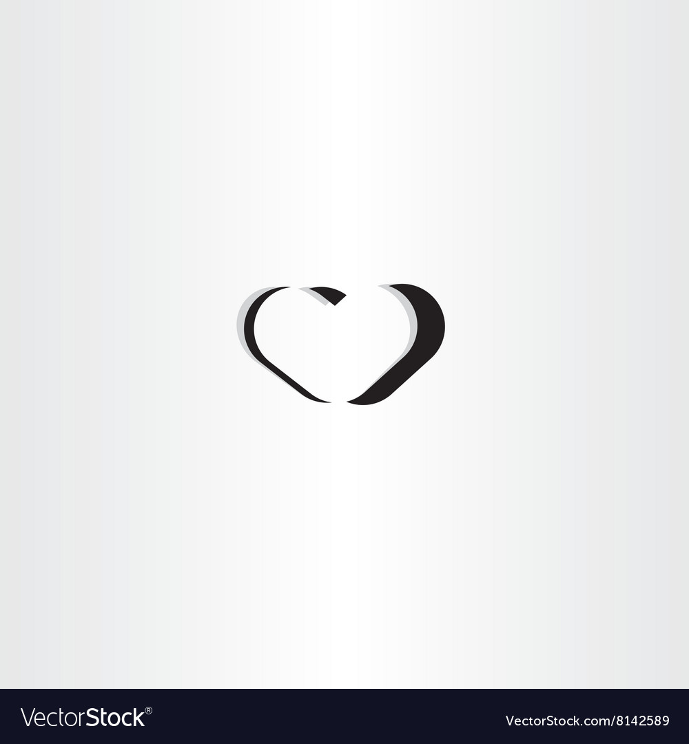 Black heart logo icon symbol element sign vector image