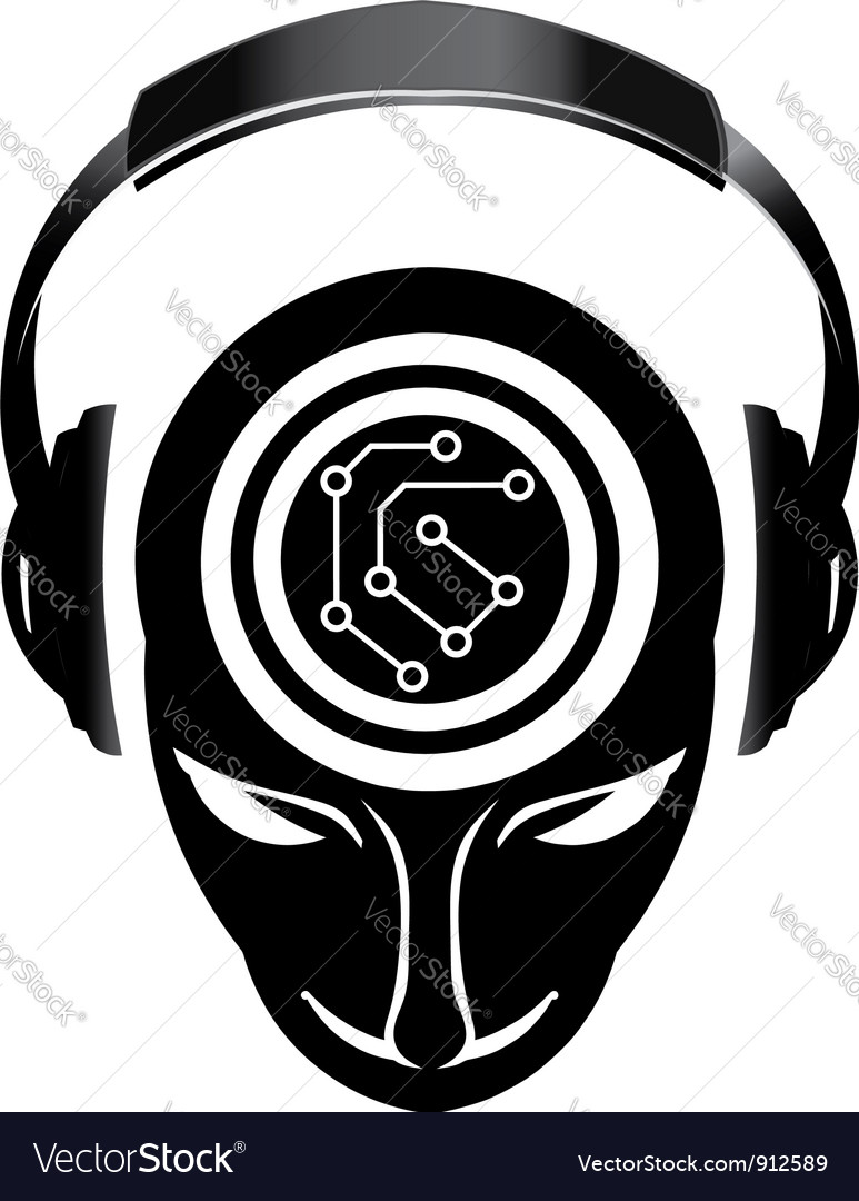 Dj electronic mind vector image