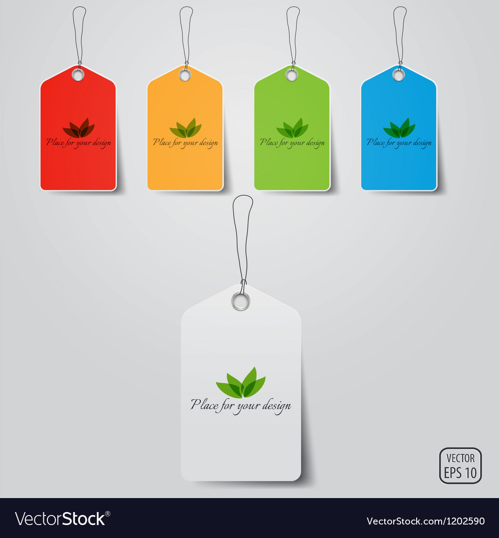 Blanc Pricing Tags Vector Image