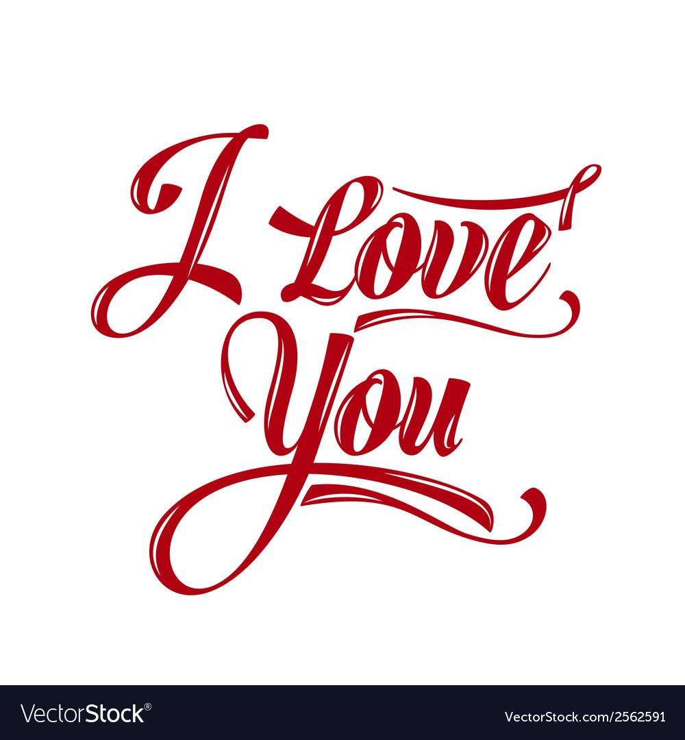 Download Calligraphic Writing i love you Royalty Free Vector Image