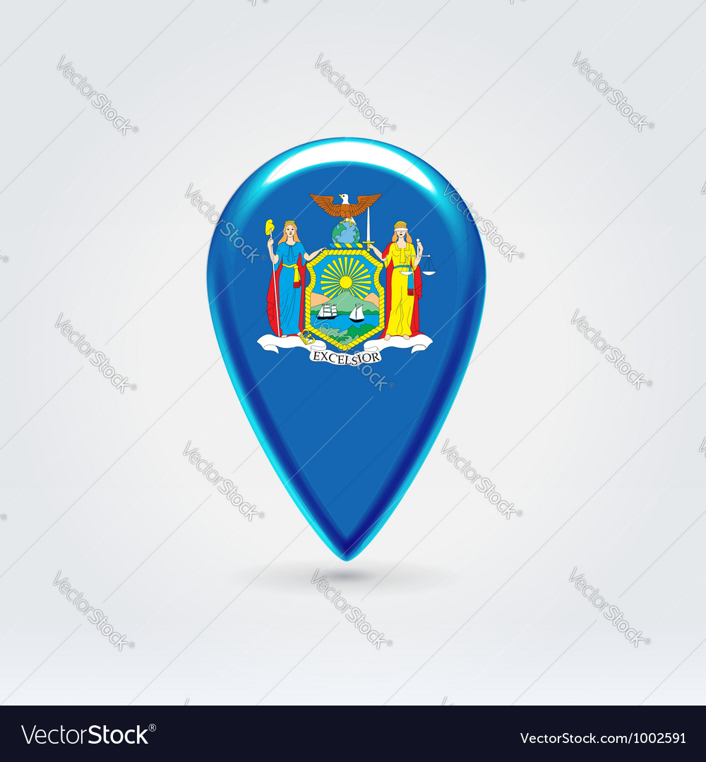 New York icon point for map vector image