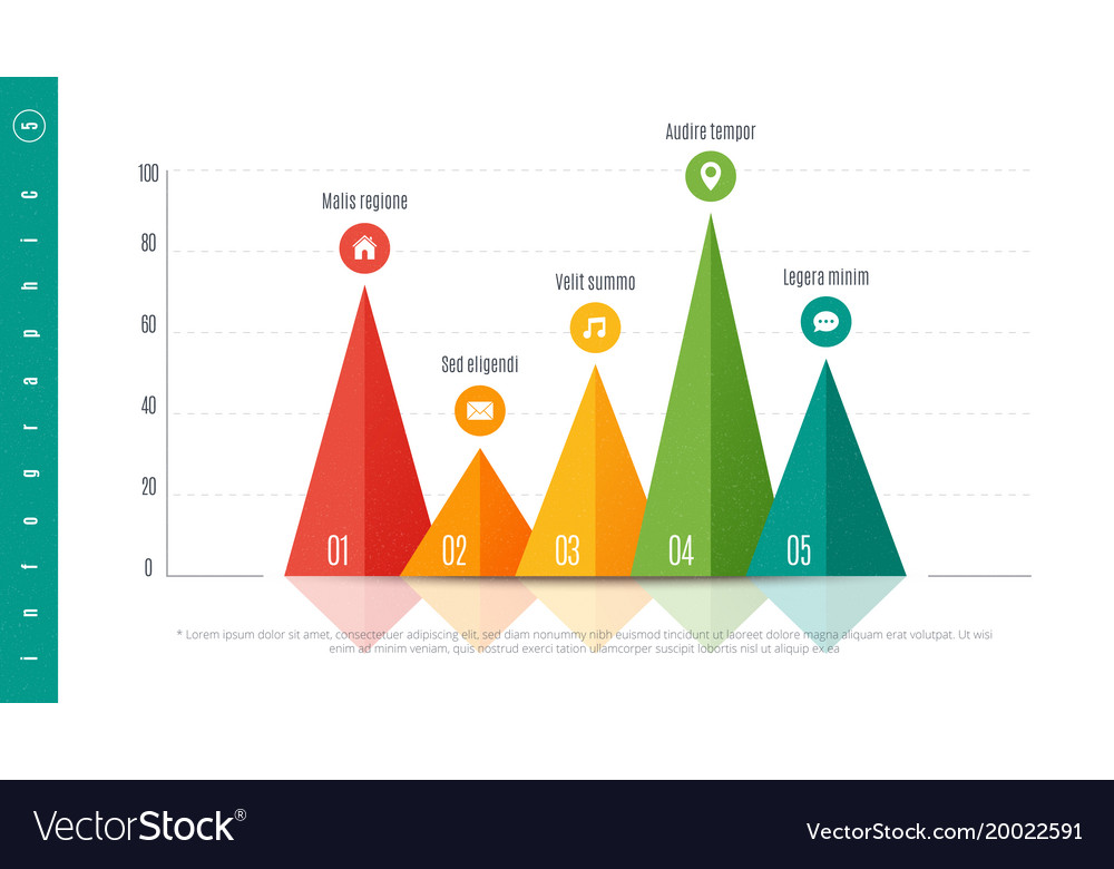 Textured Infographic Bar Chart Template With  Vector Image