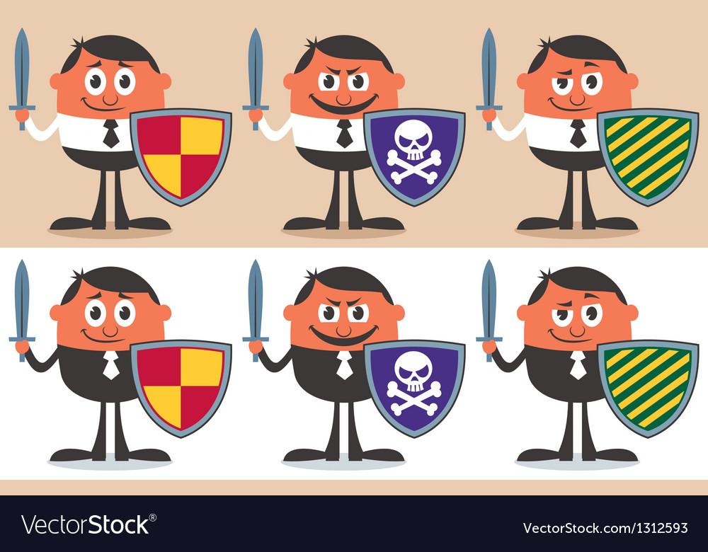 Business Warrior vector image