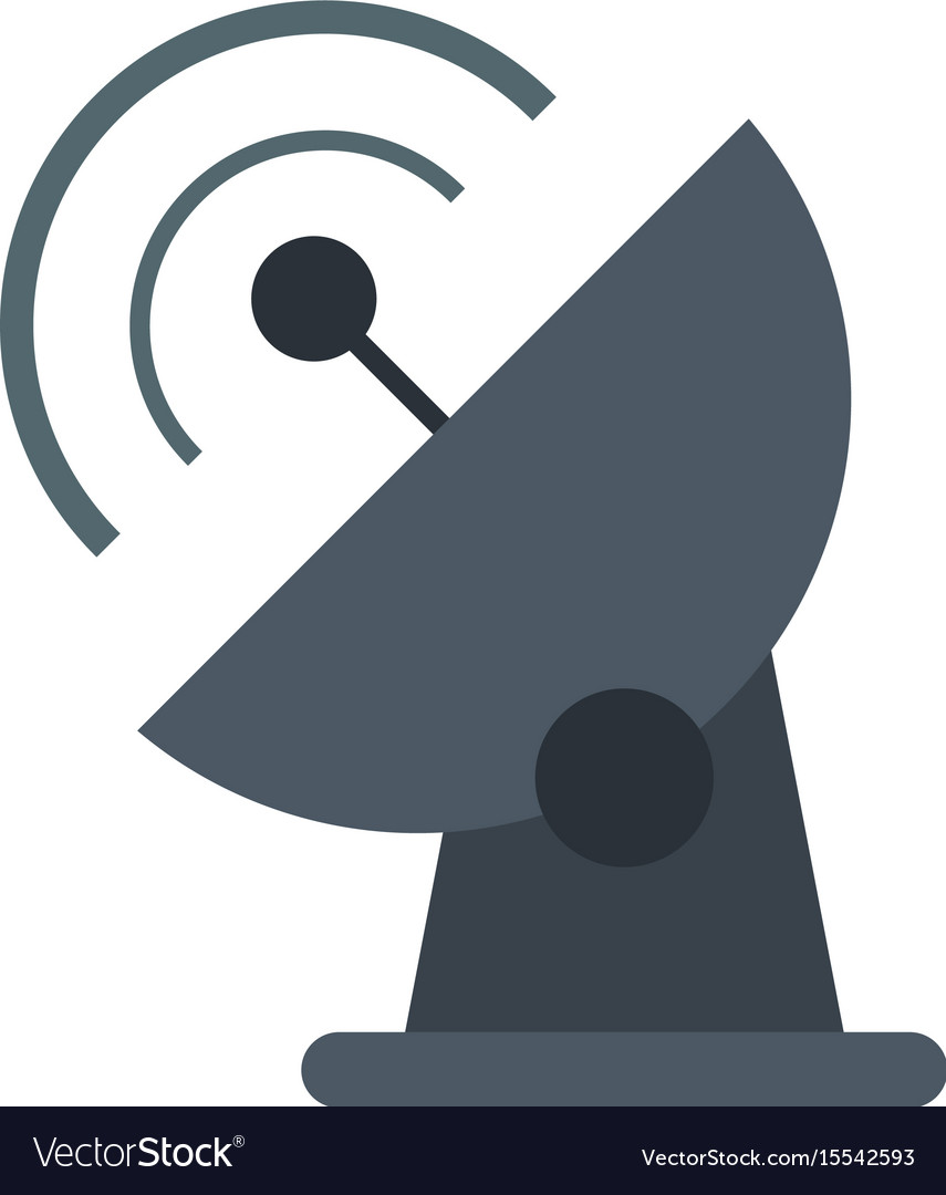 Communication signal antenna vector image