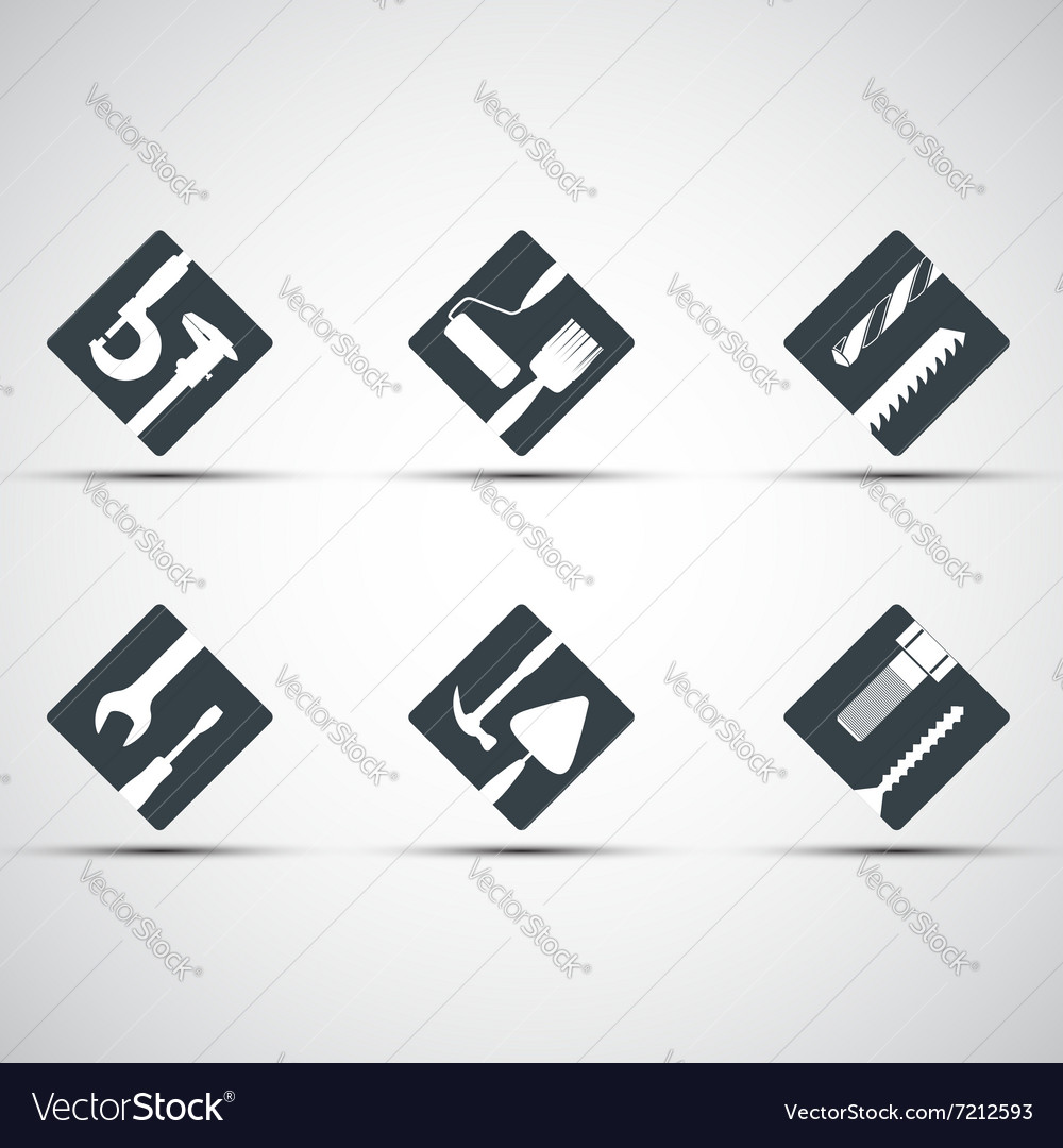 Set of icons tool vector image