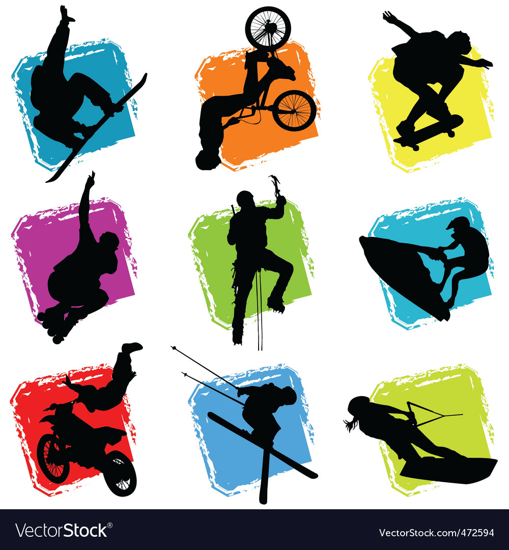 Extreme sports vector image