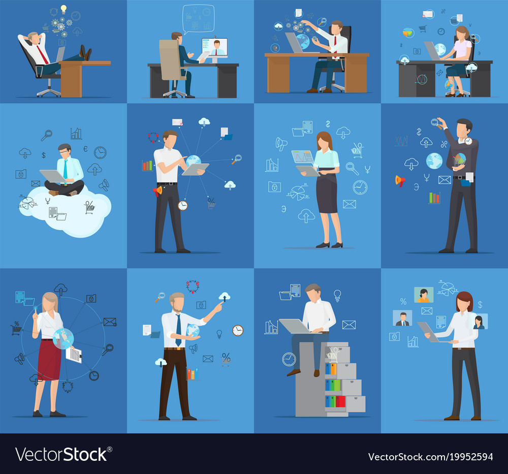 Many technology business cards royalty free vector image many technology business cards vector image reheart Gallery