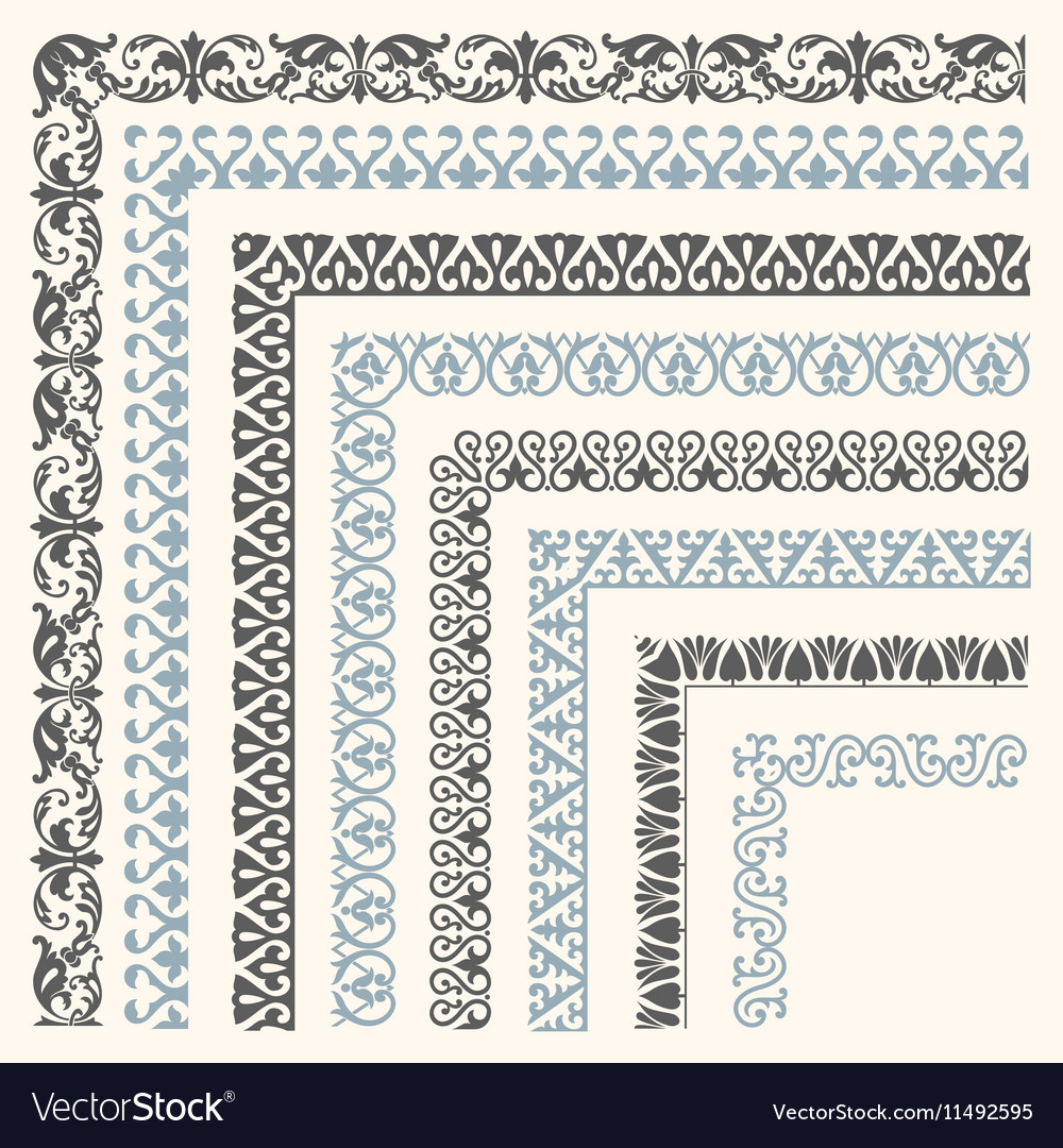 Decorative seamless ornamental border vector image