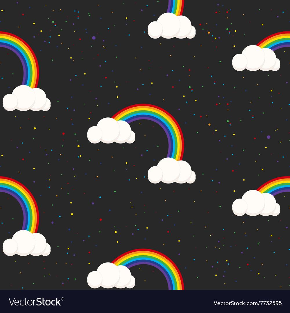 Night sky fantasy kid seamless pattern vector image