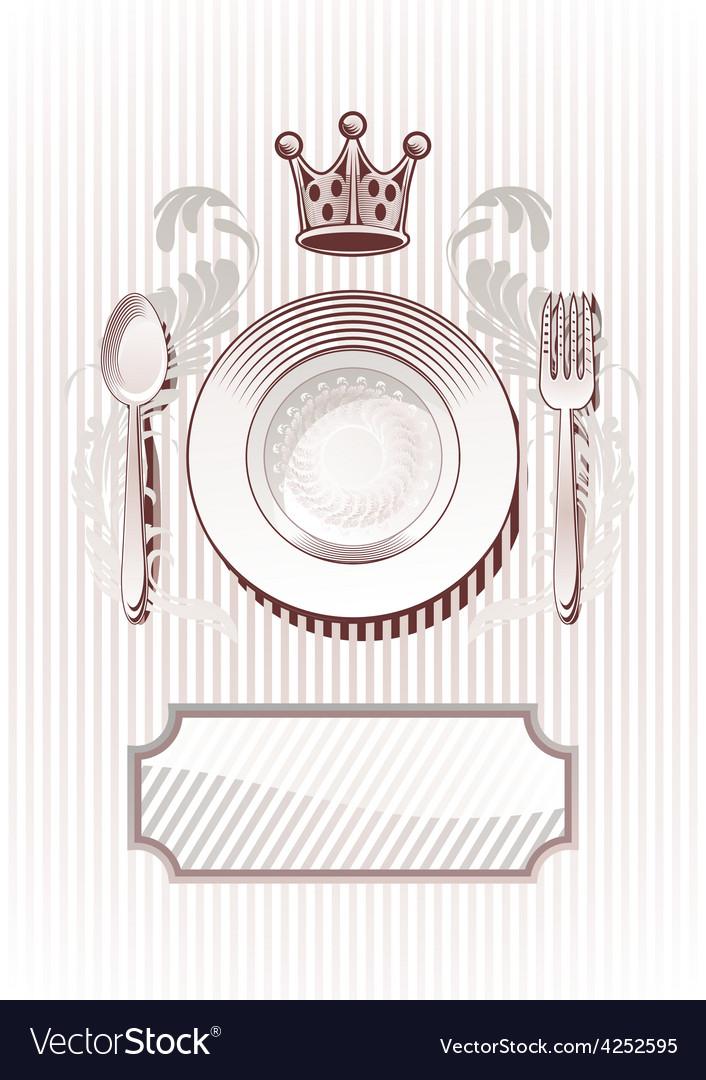Royal Diner vector image