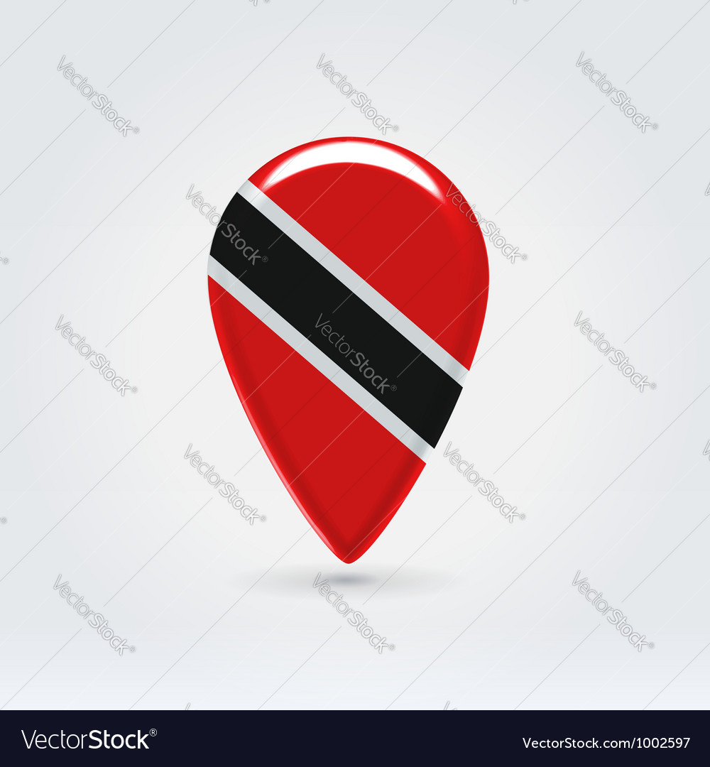 TrinidadTobago icon point for map vector image