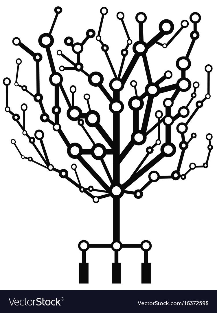 Circuit tree vector image