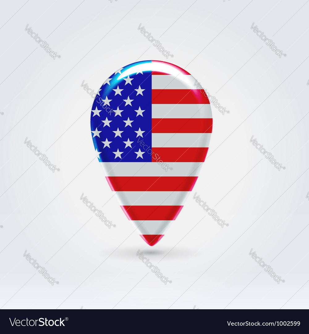 USA Icon Point For Map Royalty Free Vector Image - Us map logo