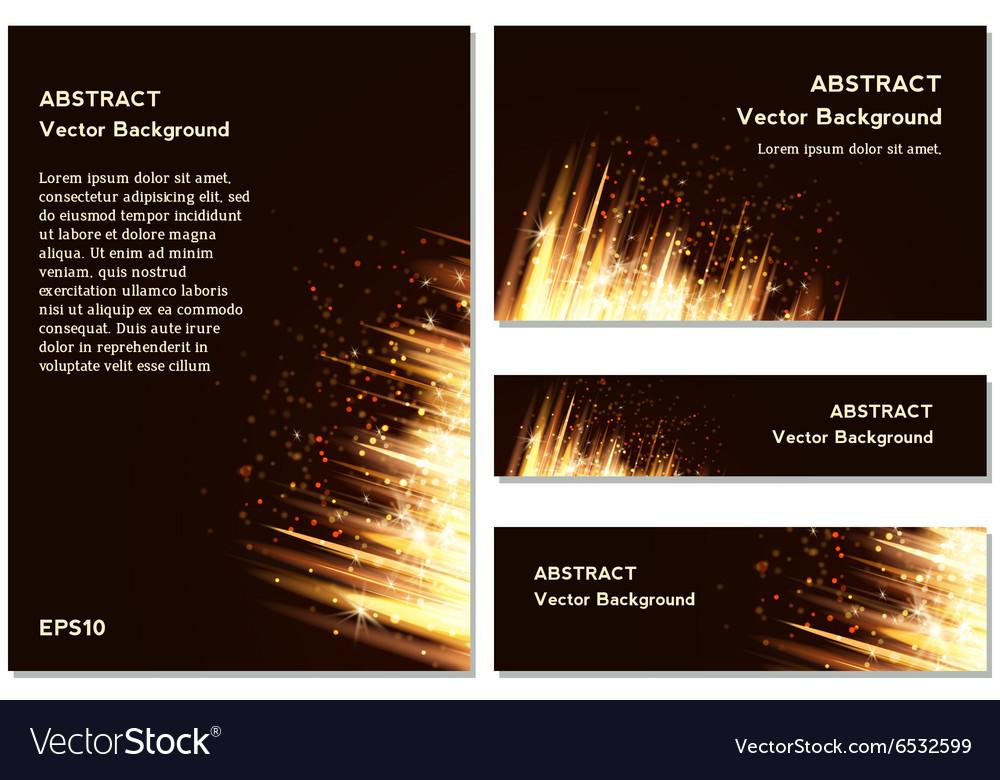 Yellow Modern Business Card Set vector image