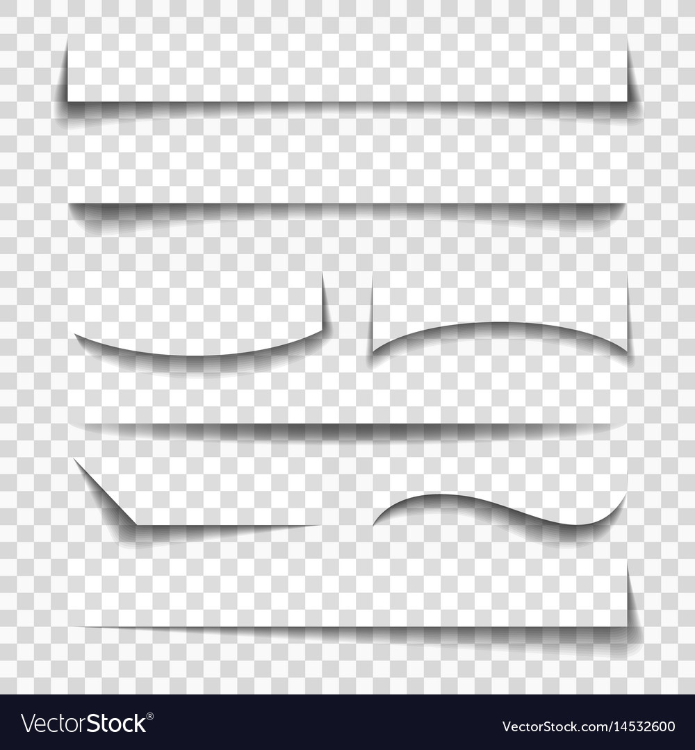 Paper sheet elements shadows vector image