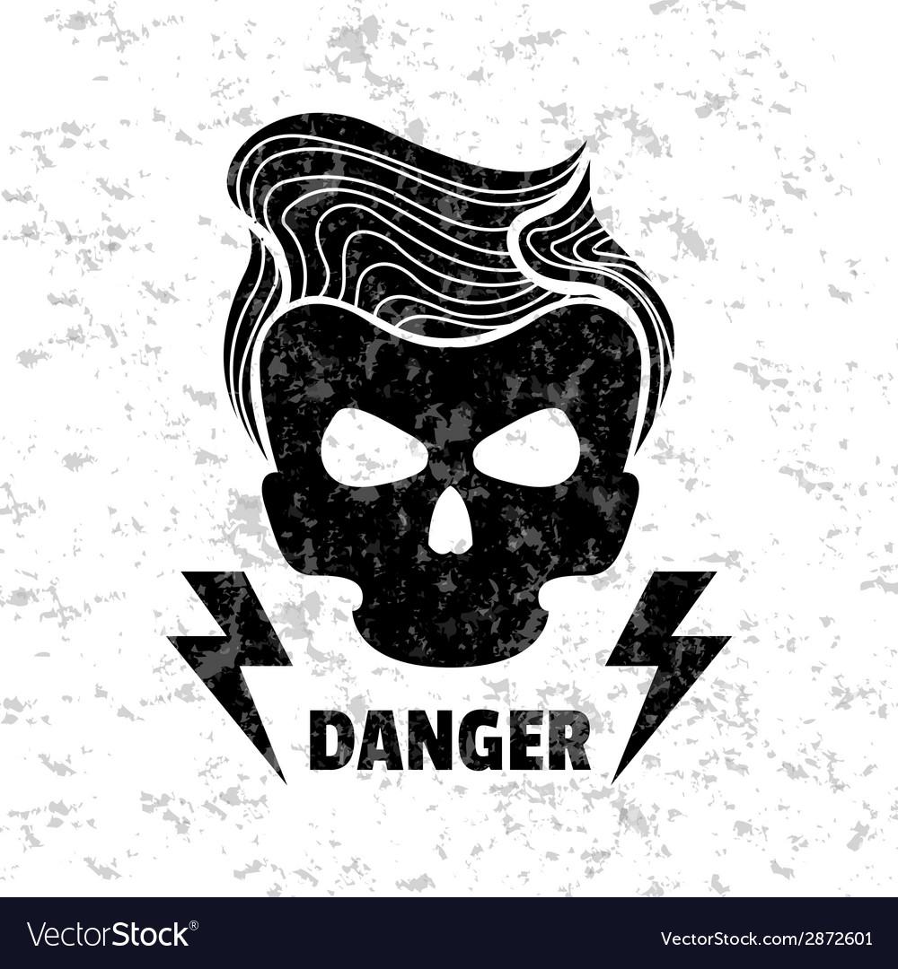 Design t shirt vector - Skull Hipster Template For Design T Shirts Vector Image