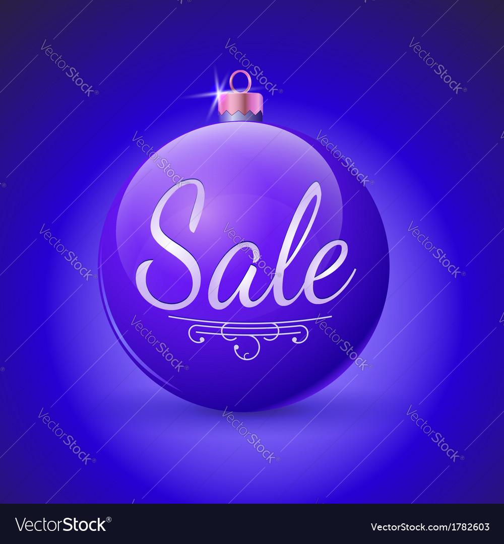 Sale Christmas ball vector image