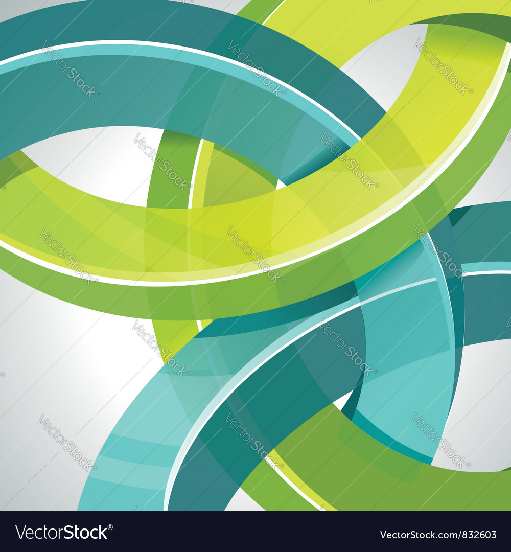 3d technology circles vector image