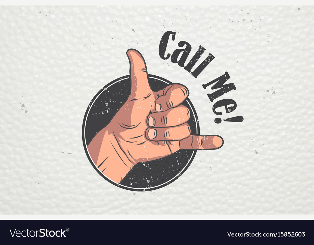 Realistic hand gesture - call me shaka brah vector image
