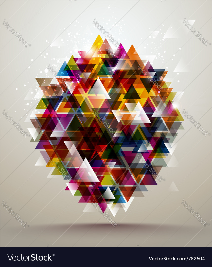 Background triangle pattern vector image