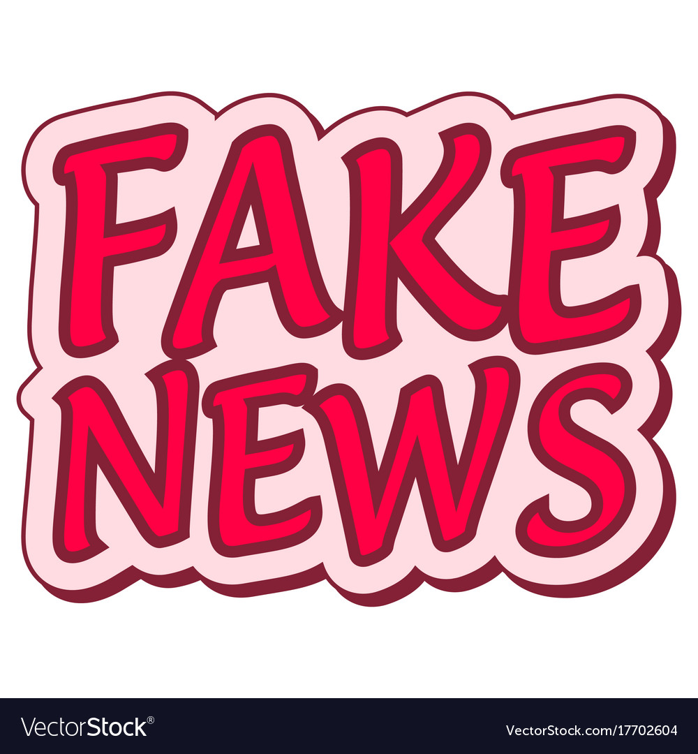 Fake news sticker retro speech balloon vector image