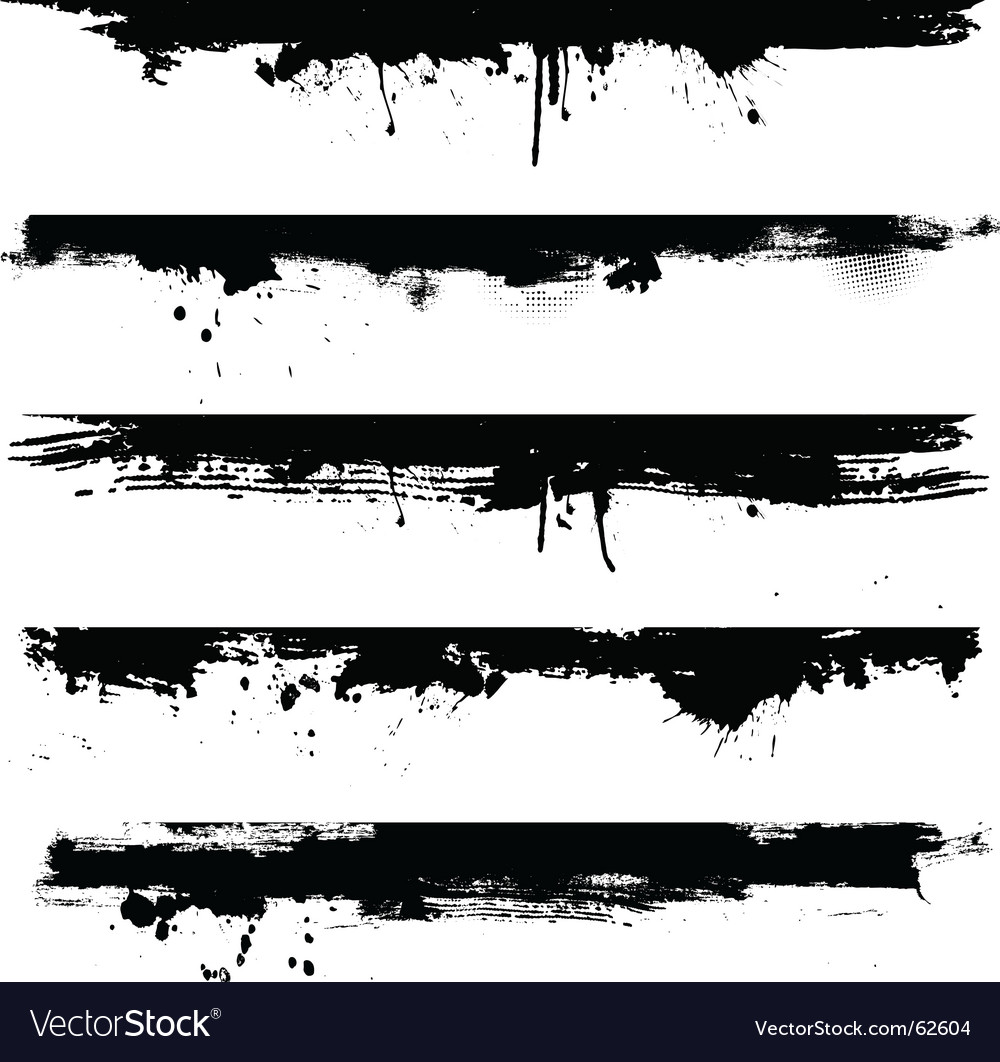 Grunge borders vector image