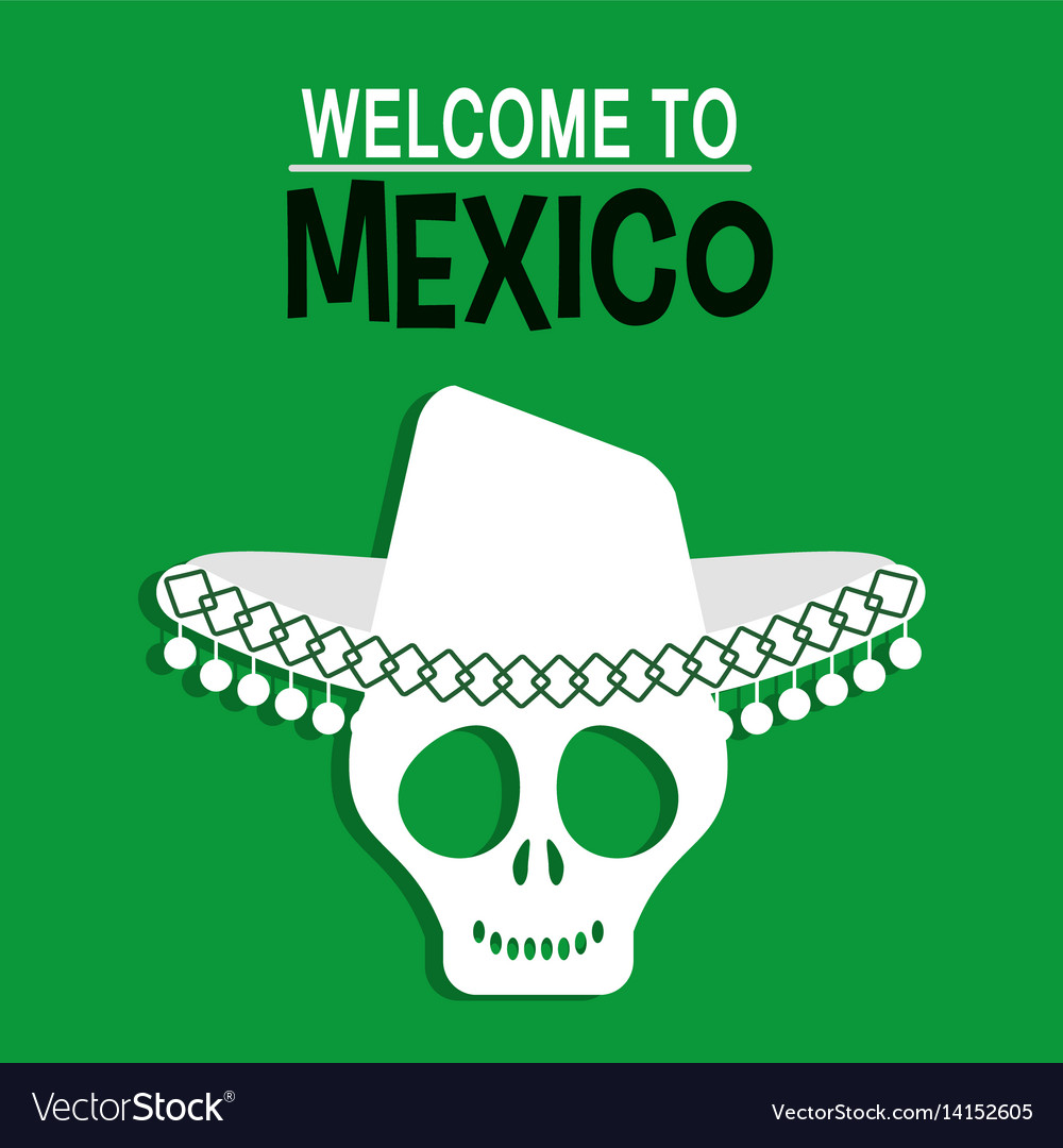 Welcome to mexico greeting card royalty free vector image welcome to mexico greeting card vector image kristyandbryce Choice Image