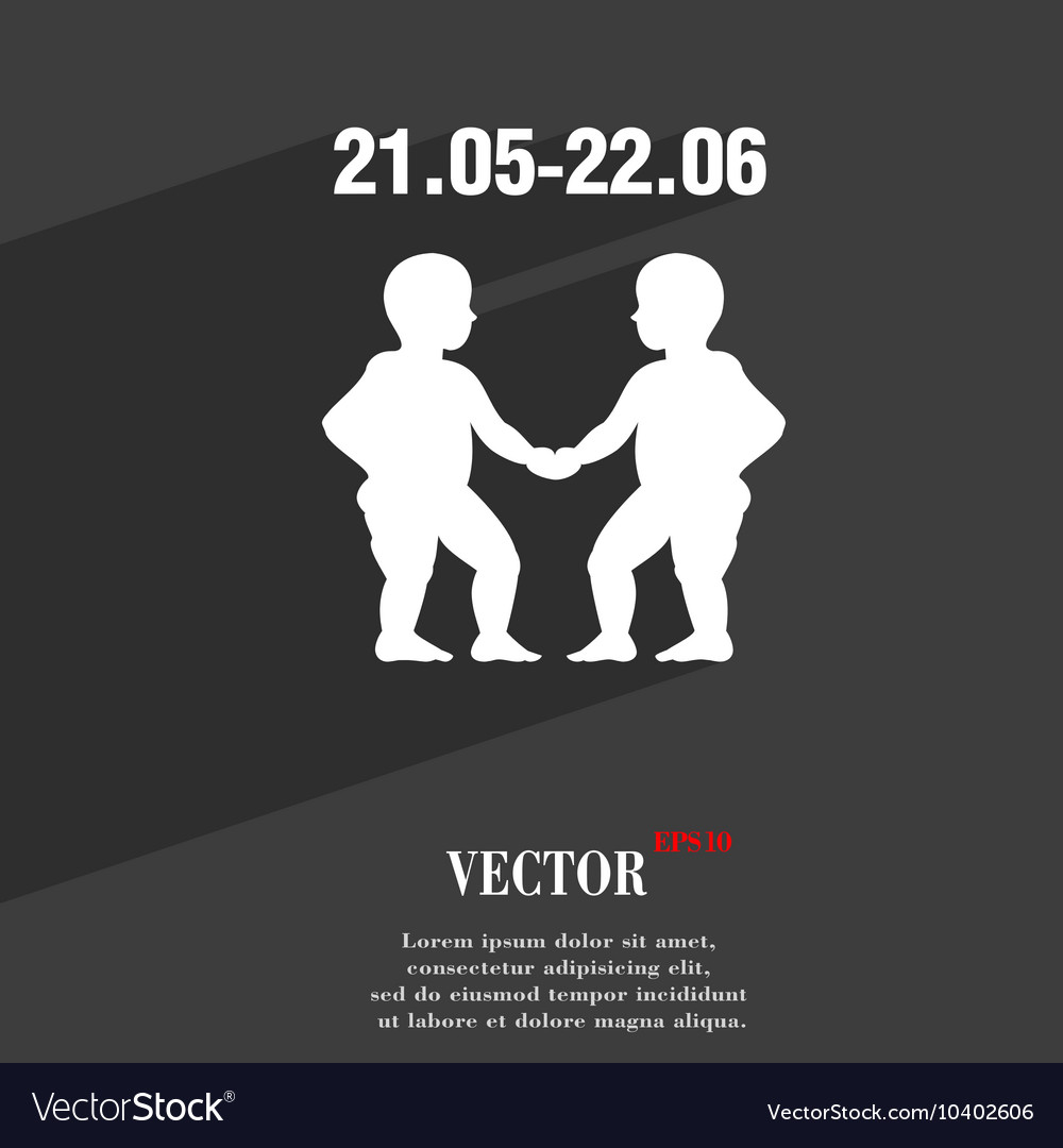 Gemini symbol flat modern web design with long vector image gemini symbol flat modern web design with long vector image buycottarizona