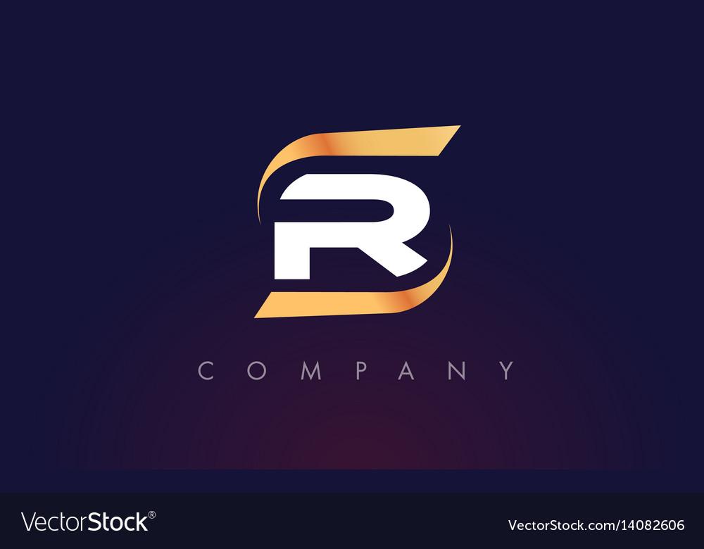 r letter logo design modern letter template